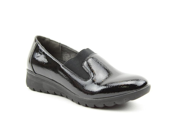 Heavenly Feet Naples Black Patent Womens Casual Comfort Shoes