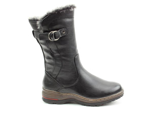 Heavenly Feet Bramble Black Womens Casual Comfort Calf Boots