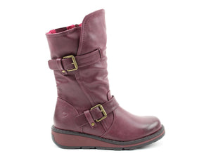 Heavenly Feet Hannah2 New Berry Womens Casual Comfort Boots