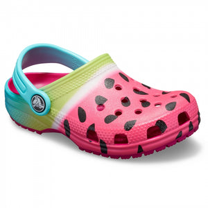 Crocs Classic Candy Pink Ombre Kids Graphic Clog