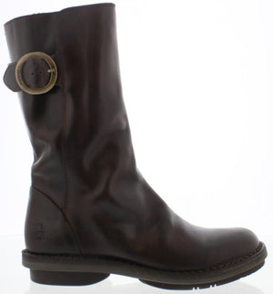 Fly London Folk979fly Dark Brown Womens Slouch Calf Boots