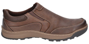 Hush Puppies Jasper Brown Mens Casual Comfort Slip On Leather Shoes