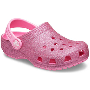 Crocs Crocband Pink Glitter Clogs Kids Childrens Summer Casual Shoes