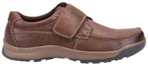 Hush Puppies Casper Brown Mens Casual Comfort Touch Fastening Leather Shoes