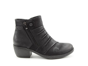 Heavenly Feet Hallie Black Womens Casual Vegan Friendly Ankle Boots