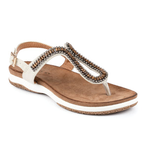 Lunar JLH268 Pascal Stone Womens Comfortable Summer Toe Post Sandals