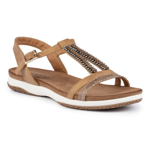 Lunar JLH269 Perrie Tan Womens Detail Sandals