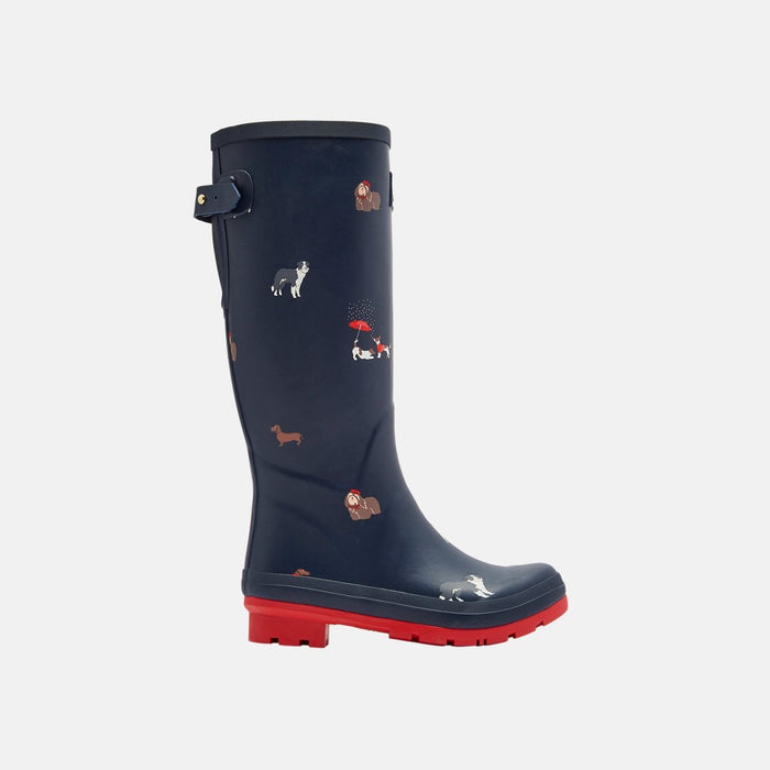 Joules Welly Print Navy Dogs