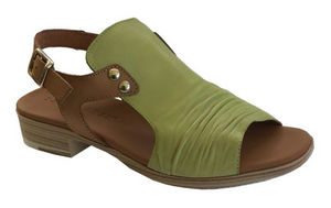 Paula Urban Vacuno Kiwi Womens Casual Comfort Leather Open Toe Sandals