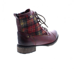 Remonte D4354-35 Wine Multi Womens Casual Comfort Ankle Boots