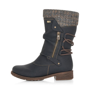 Remonte D8070-01 Black Womens Casual Comfort Calf Boots