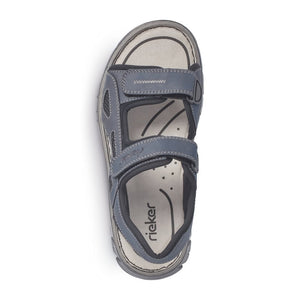 Rieker 26761-14 Navy Mens Casual Comfort Touch Fastening Sandals