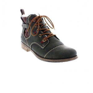 Rieker 77443-54 Green Womens Casual Comfort Lace Up Ankle Boots