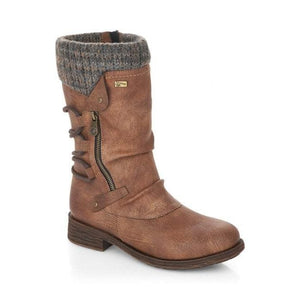 Remonte D8070-25 Brown Womens Casual Comfort Calf Boots