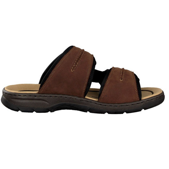 Rieker 26268-25 Brown Men's Casual Mules Touch Fastenings Leather Mules Sandals