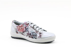 Heavenly Feet Cinnamon Silver Floral Women's Casual Lace Up Trainers