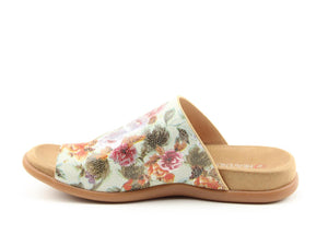 Heavenly Feet Beverley Mint Floral Womens Casual Comfort Slip On Sandals