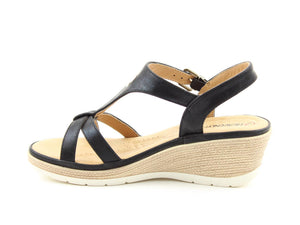 Heavenly Feet Coral Black Womens Casual Comfort Slingback Sandals
