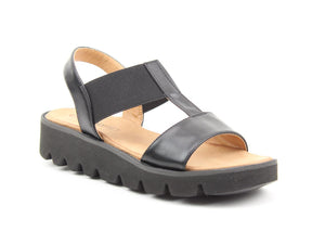 Heavenly Feet Ritz Black Womens Casual Comfort Slingback Sandals