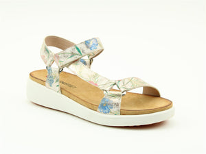 Heavenly Delta White Floral Ladies Casual Comfort Sandals