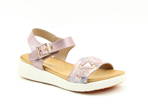Heavenly Feet Etta Pink Ladies Casual Comfort Sandals