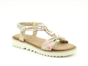Heavenly Feet Lily Taupe Ladies Casual Comfort Sandals