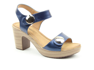 Heavenly Feet Sadie2 Navy Womens Stylish Dressy Heeled Sandals