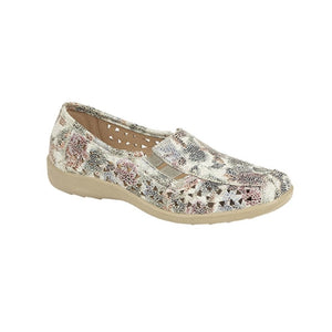 Boulevard L130FM Multi Floral Womens Casual Comfort Shoes
