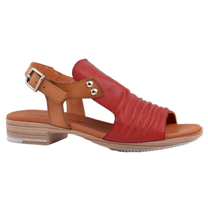 Paula Urban Vacuno Rojo Womens Casual Comfort Leather Open Toe Sandals