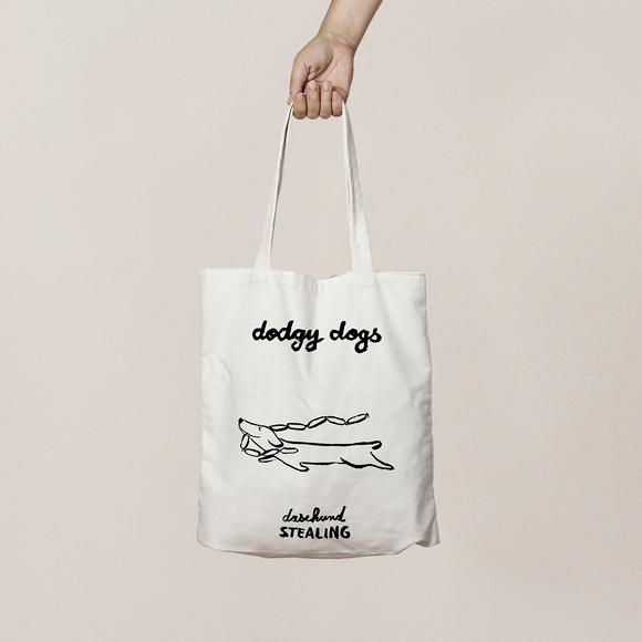 Exclusive Dodgy Dogs Tote Bags