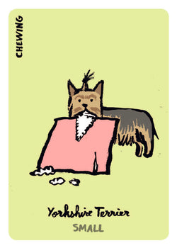 Dodgy Dogs Playing Card