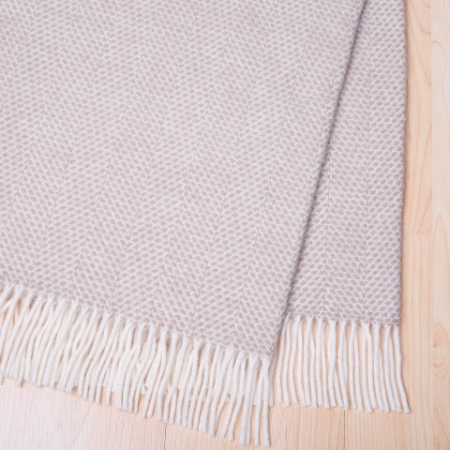Weave Home Wool throw- Oatmeal