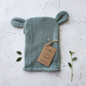 Organic Muslin bear wash cloths