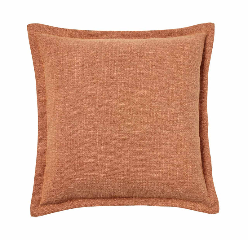 Weave Home- Austin Tangerine Linen blend cushion