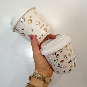 Keep Cups - with Gold detailing