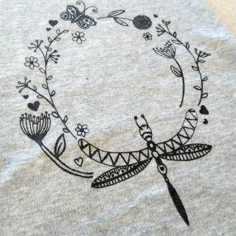 'fly away' onesie shortsleeve Grey