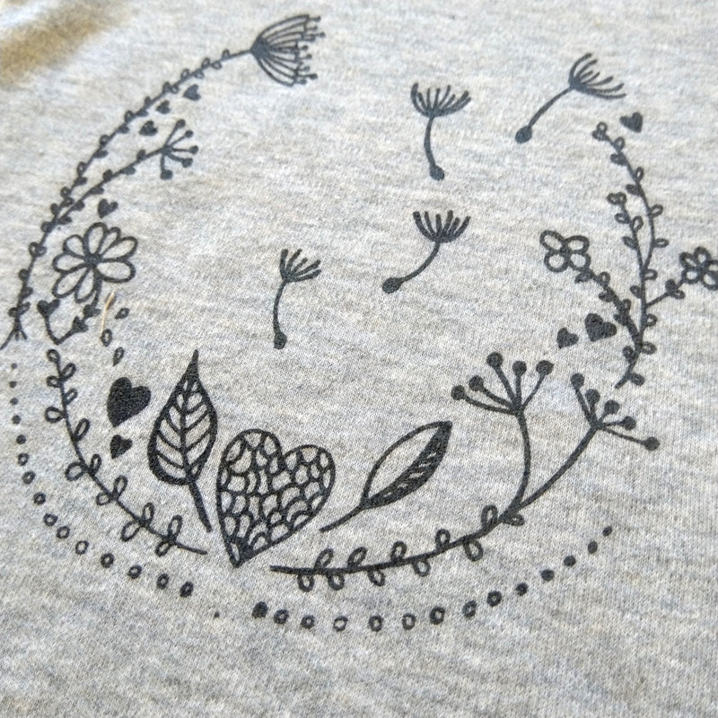 'blooming love' onesie shortsleeve Grey