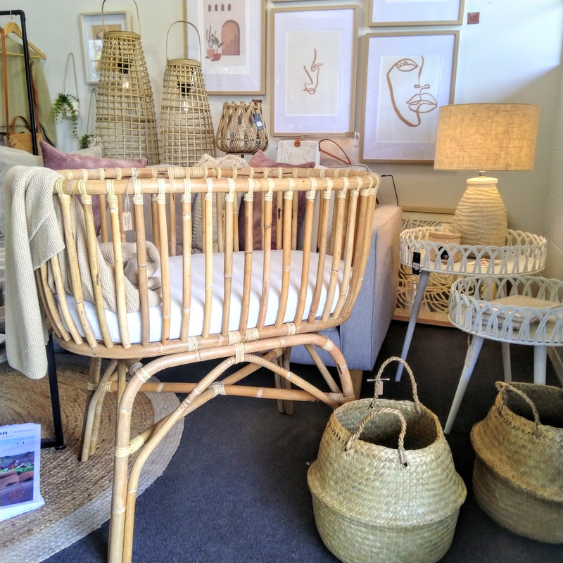 Rattan Baby Bassinet - available by request