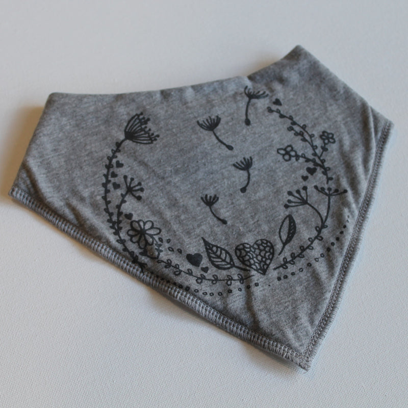 caro with love - 'blooming love' bandana bib