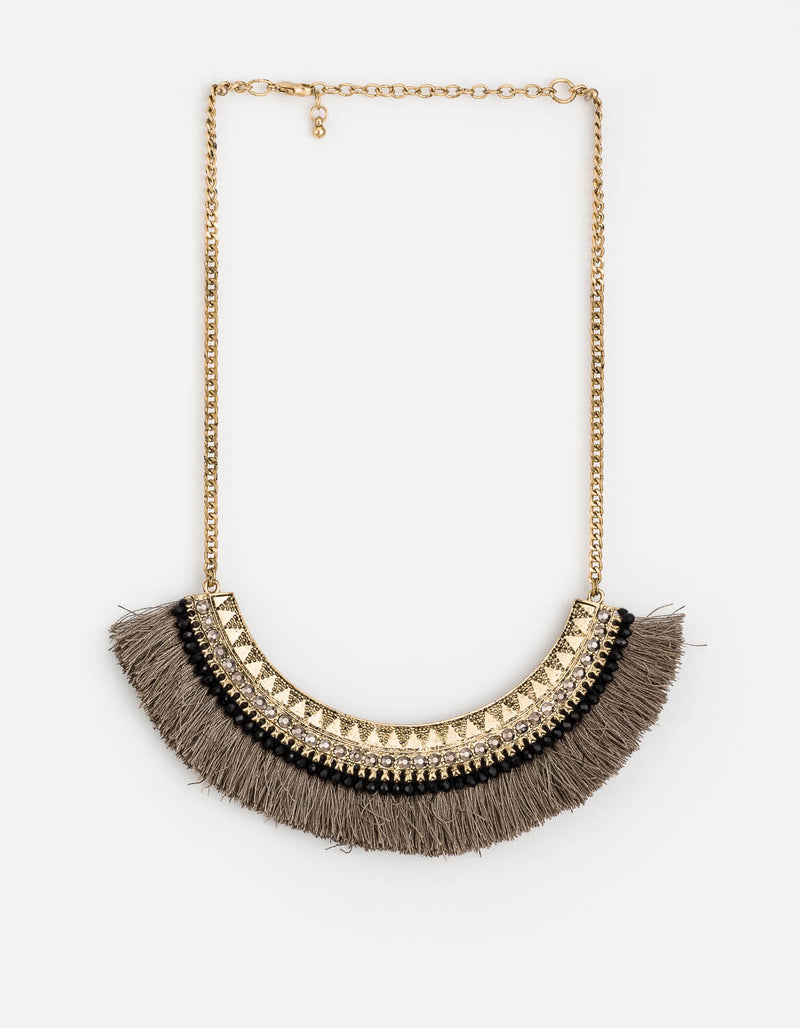 Stella+Gemma  tassel moon necklace