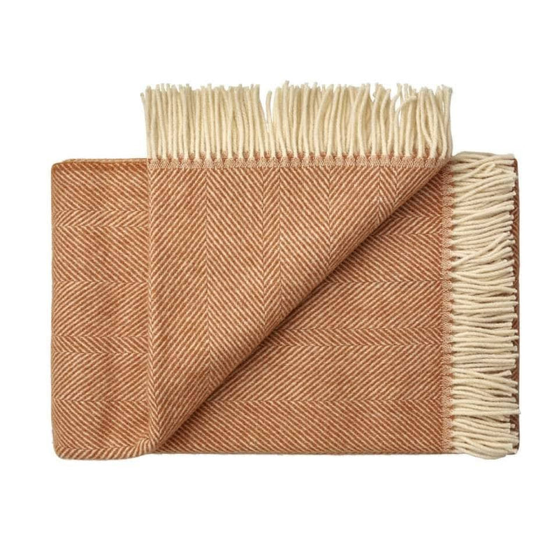 WeaveHome Wool Throw - Apricot