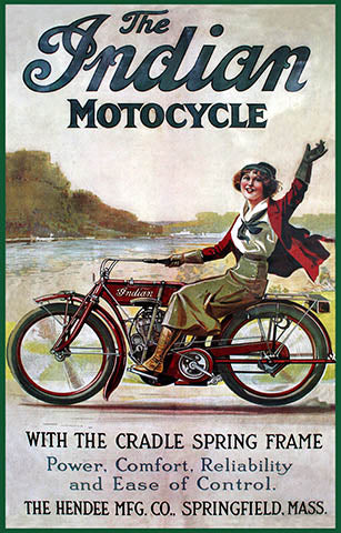 1912- Indian Motocycle Print