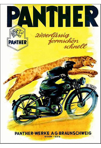 1941 German Panther lightweight motorcycles
