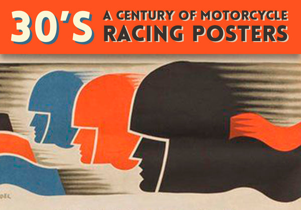 30's motorcycle racing posters