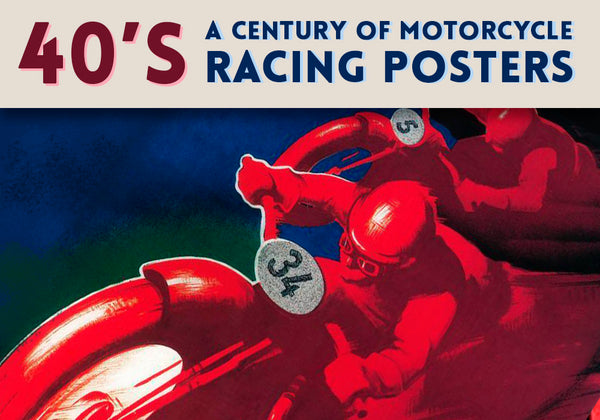 40's motorcycle racing posters