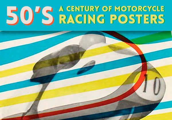 50's motorcycle racing posters