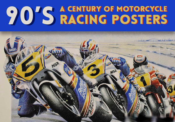 90'S Motorcycle racing posters