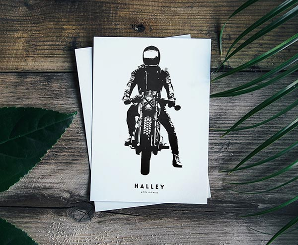 Halley Accessories Screenprinted Postcard