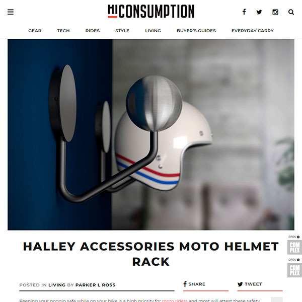 hiconsumption halley accessories helmet rack
