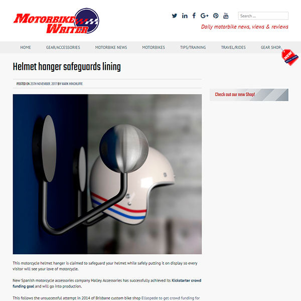 motorbike writer halley accessories helmet hanger